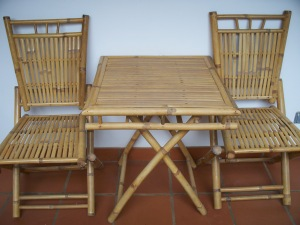 Bamboo table & chairs, Cambodia