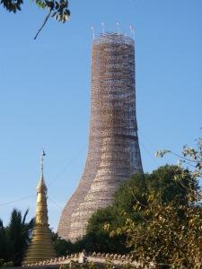 Bamboo scaffolding, Myanmar (Burma)