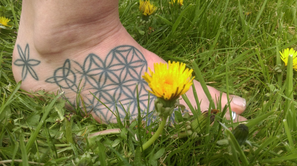Standing Barefoot