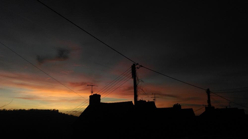 urban winter sky